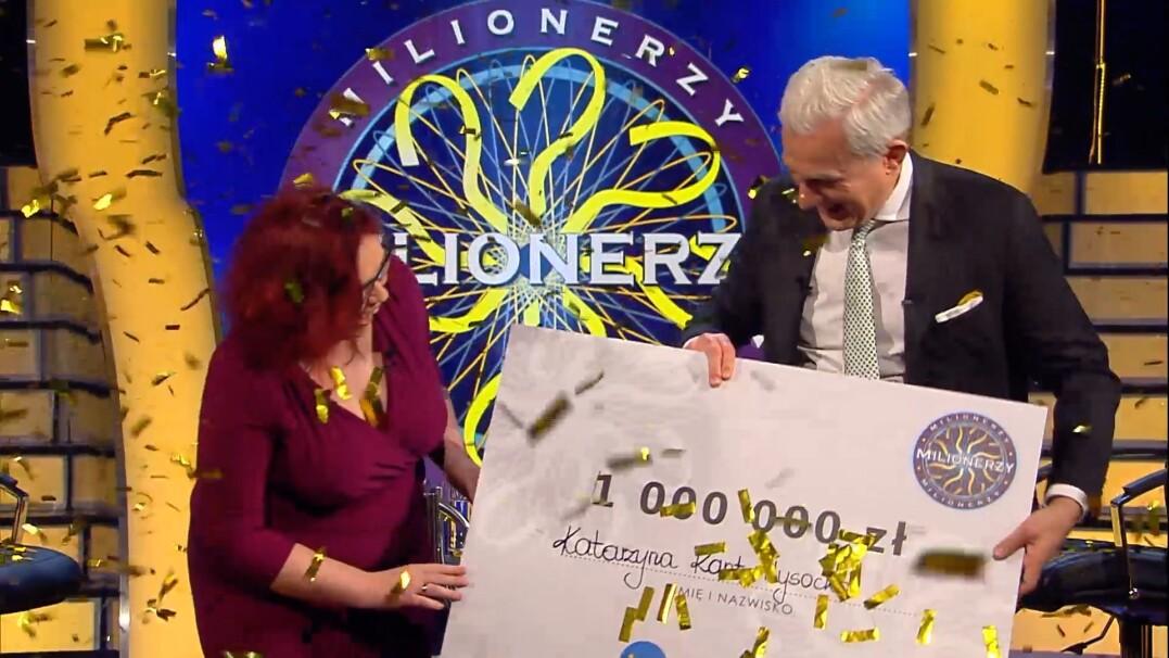 """Pani Katarzyna wygrała milion złotych """"Milionerach""""!"""