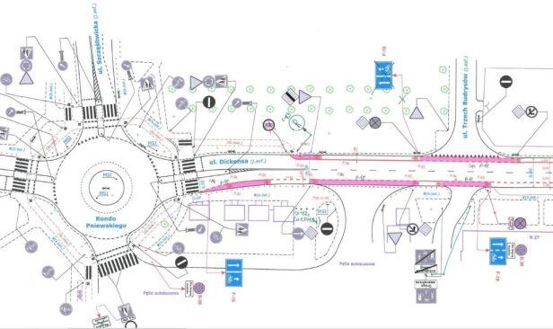 Planowany pas rowerowy Urząd Miasta