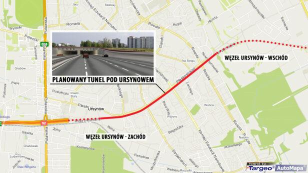 Tunel pod Ursynowem targeo.pl