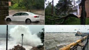 Połamane drzewa, brak prądu, paraliż komunikacyjny. Dorian dotarł do Kanady