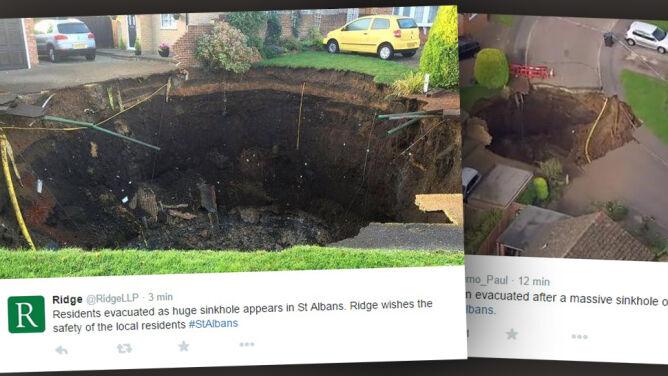 Ziemia się zapadła w St Albans
