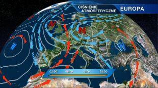 Dwa potężne niże kształtują pogodę nad Europą