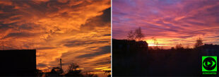 """""""Niesamowity spektakl kolorów na porannym niebie"""""""