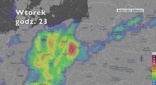 Prognozowane opady w najbliższych dniach (Ventusky.com)