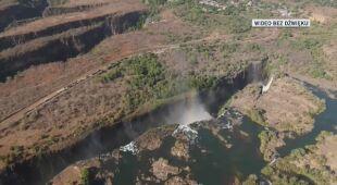 W Wodospadach Wiktorii jest coraz mniej wody